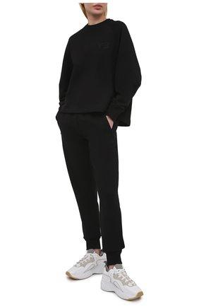Женский хлопковая футболка Y-3 черного цвета, арт. GV0336/W | Фото 2