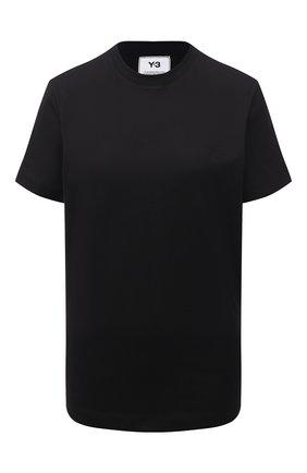 Женская хлопковая футболка Y-3 черного цвета, арт. GM3274/W | Фото 1