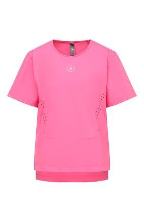 Женская футболка ADIDAS BY STELLA MCCARTNEY розового цвета, арт. GL5271 | Фото 1