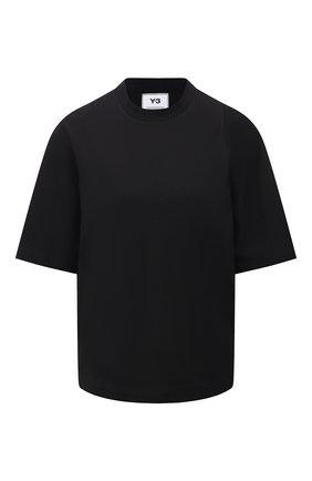 Женская хлопковая футболка Y-3 черного цвета, арт. GK4468/W | Фото 1
