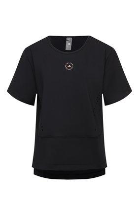 Женская футболка ADIDAS BY STELLA MCCARTNEY черного цвета, арт. FU1585 | Фото 1