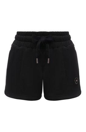 Женские хлопковые шорты ADIDAS BY STELLA MCCARTNEY черного цвета, арт. FU0729 | Фото 1
