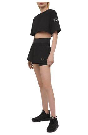 Женские шорты ADIDAS BY STELLA MCCARTNEY черного цвета, арт. FU0280 | Фото 2