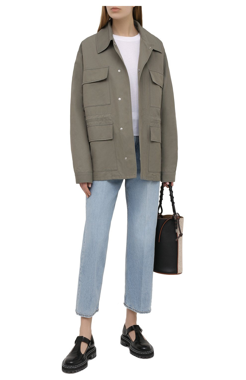 Женская куртка STELLA MCCARTNEY хаки цвета, арт. 602978/SIA03 | Фото 2