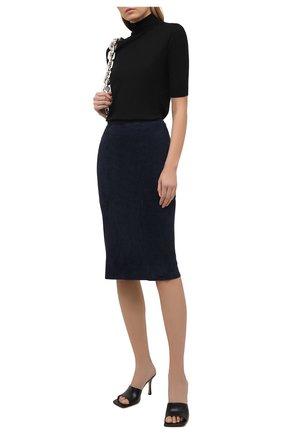 Женская замшевая юбка RALPH LAUREN темно-синего цвета, арт. 290842613 | Фото 2