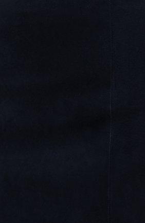 Женская замшевая юбка RALPH LAUREN темно-синего цвета, арт. 290842613 | Фото 5