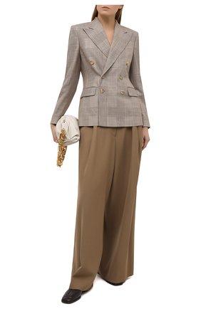 Женский жакет из шелка и шерсти RALPH LAUREN светло-коричневого цвета, арт. 290840105 | Фото 2