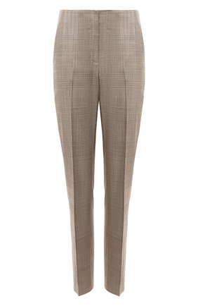 Женские брюки из шелка и шерсти RALPH LAUREN светло-коричневого цвета, арт. 290840155 | Фото 1