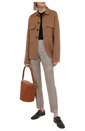 Женские брюки из шелка и шерсти RALPH LAUREN светло-коричневого цвета, арт. 290840155 | Фото 2