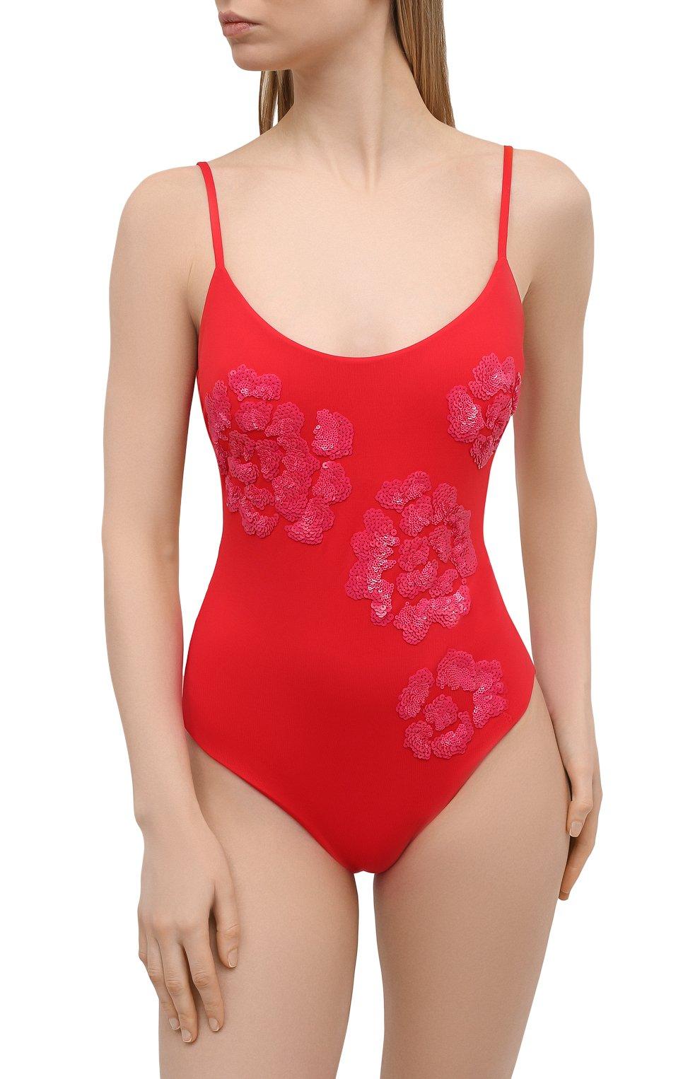 Женский слитный купальник FISICO красного цвета, арт. S1/F/MC06MP | Фото 2