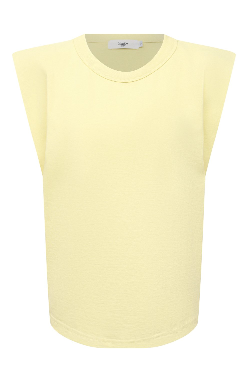 Женская хлопковая футболка THE FRANKIE SHOP желтого цвета, арт. TS EVA KR 07 | Фото 1