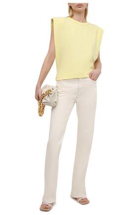 Женская хлопковая футболка THE FRANKIE SHOP желтого цвета, арт. TS EVA KR 07 | Фото 2
