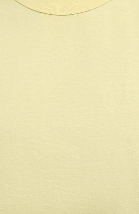Женская хлопковая футболка THE FRANKIE SHOP желтого цвета, арт. TS EVA KR 07 | Фото 5