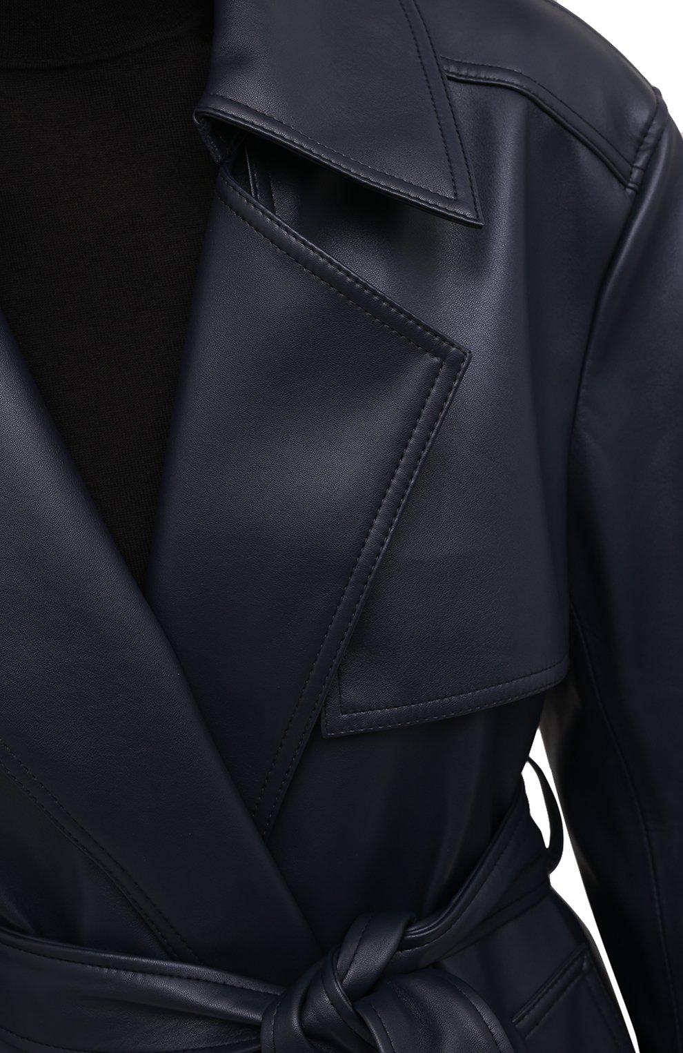 Женский плащ THE FRANKIE SHOP синего цвета, арт. C0 FPT KR 10   Фото 5