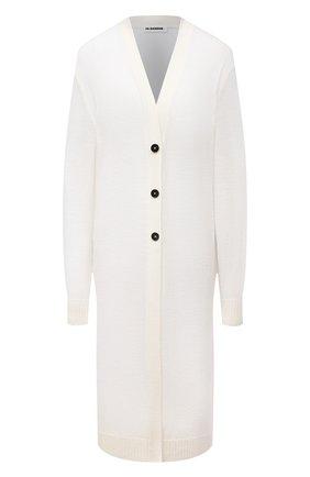 Женский шерстяной кардиган JIL SANDER белого цвета, арт. JPPS752510-WSY20048   Фото 1
