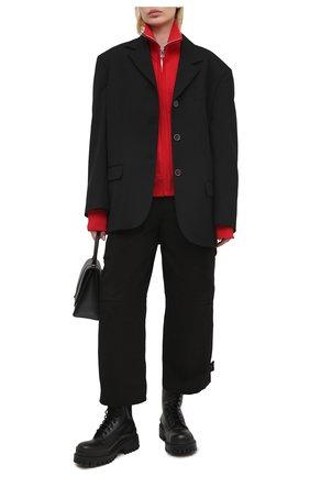 Женские хлопковые брюки BOTTEGA VENETA черного цвета, арт. 647711/V0BT0   Фото 2
