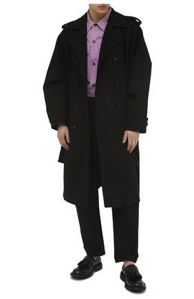 Мужские кожаные лоферы BOTTEGA VENETA черного цвета, арт. 651311/V00H0 | Фото 2 (Материал внутренний: Натуральная кожа; Мужское Кросс-КТ: Лоферы-обувь; Стили: Кэжуэл)