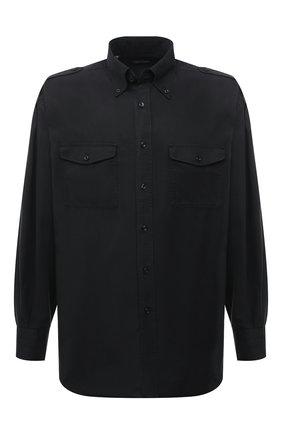 Мужская рубашка TOM FORD черного цвета, арт. 9FT800/940MBE | Фото 1