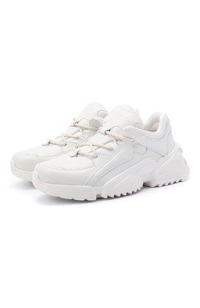 Женские кожаные кроссовки cancio run 03 SALVATORE FERRAGAMO белого цвета, арт. Z-07341201C | Фото 1