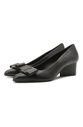 Женские кожаные туфли viva SALVATORE FERRAGAMO черного цвета, арт. Z-07308291C   Фото 1