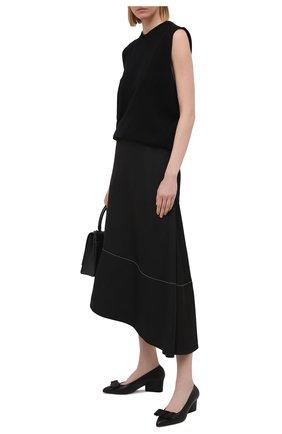 Женские кожаные туфли viva SALVATORE FERRAGAMO черного цвета, арт. Z-07308291C   Фото 2