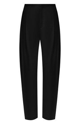 Женские шерстяные брюки TOTÊME черного цвета, арт. 211-226-708 | Фото 1