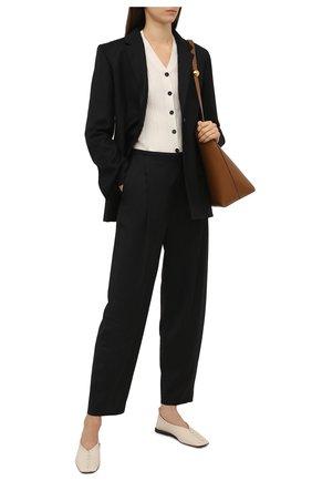 Женские шерстяные брюки TOTÊME черного цвета, арт. 211-226-708 | Фото 2