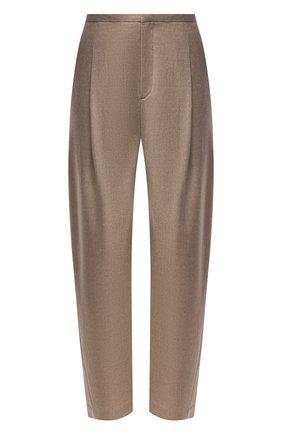 Женские шерстяные брюки TOTÊME бежевого цвета, арт. 211-226-708 | Фото 1