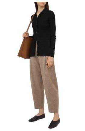 Женские шерстяные брюки TOTÊME бежевого цвета, арт. 211-226-708 | Фото 2
