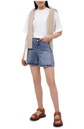 Женская хлопковая футболка ATM ANTHONY THOMAS MELILLO белого цвета, арт. AW1386-GAB | Фото 2