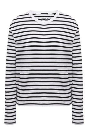 Женский хлопковый пуловер ATM ANTHONY THOMAS MELILLO черно-белого цвета, арт. AW1323-GAB4 | Фото 1