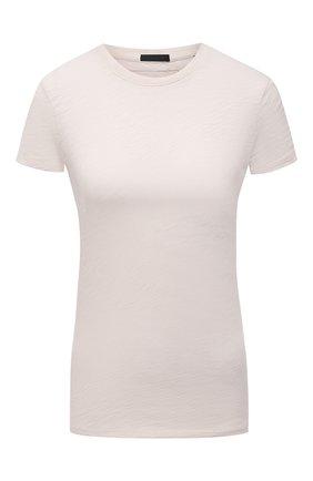 Женская хлопковая футболка ATM ANTHONY THOMAS MELILLO бежевого цвета, арт. AW1145-FK | Фото 1