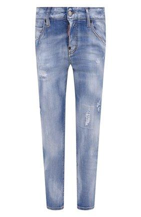 Женские джинсы DSQUARED2 темно-синего цвета, арт. S75LB0508/S30342 | Фото 1