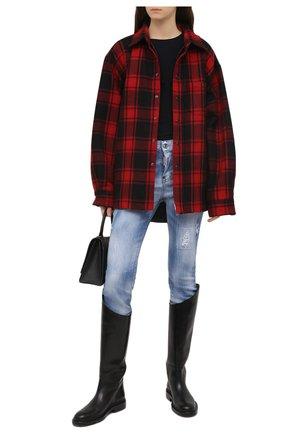 Женские джинсы DSQUARED2 темно-синего цвета, арт. S75LB0508/S30342 | Фото 2