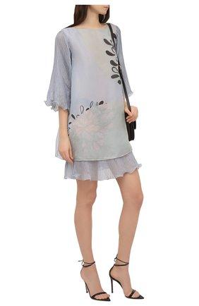 Женское шелковое платье GIORGIO ARMANI голубого цвета, арт. 1SHVA07J/T02LV | Фото 2