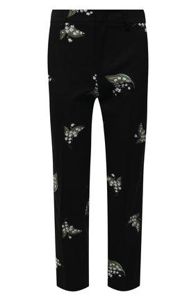 Женские брюки из хлопка и шерсти REDVALENTINO черного цвета, арт. VR3RBD45/5M4 | Фото 1