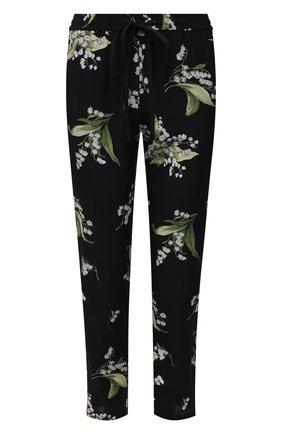 Женские шелковые брюки REDVALENTINO черного цвета, арт. VR3RBA65/5M3 | Фото 1