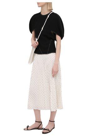 Женские кожаные сандалии REDVALENTINO черного цвета, арт. VQ0S0F82/MEN   Фото 2 (Каблук высота: Низкий; Подошва: Плоская; Материал внутренний: Натуральная кожа)