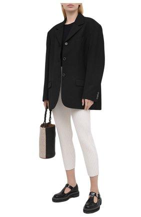 Женские брюки из шерсти и вискозы STELLA MCCARTNEY кремвого цвета, арт. 602890/S2240 | Фото 2