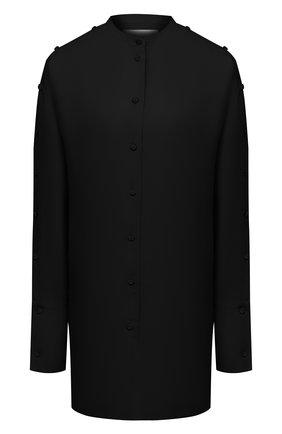 Женская рубашка из вискозы и шелка JIL SANDER черного цвета, арт. JSPS601104-WS391900   Фото 1