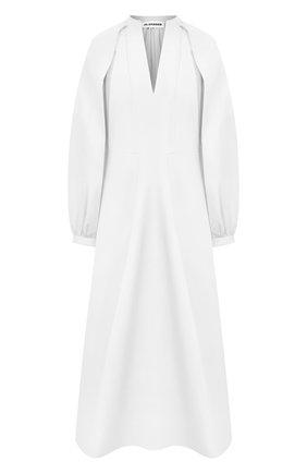 Женское хлопковое платье JIL SANDER белого цвета, арт. JSPS502306-WS244200   Фото 1