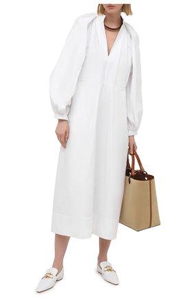 Женское хлопковое платье JIL SANDER белого цвета, арт. JSPS502306-WS244200   Фото 2