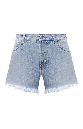 Женские джинсовые шорты TWO WOMEN IN THE WORLD голубого цвета, арт. D0NY/A1NG009 | Фото 1 (Длина Ж (юбки, платья, шорты): Мини; Материал внешний: Хлопок; Женское Кросс-КТ: Шорты-одежда; Кросс-КТ: Деним; Стили: Гранж)