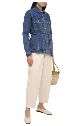 Женская джинсовая куртка TWO WOMEN IN THE WORLD синего цвета, арт. CL01/A1HF035 | Фото 2 (Длина (верхняя одежда): Короткие; Материал внешний: Хлопок; Рукава: Длинные; Кросс-КТ: Куртка, Деним; Стили: Гранж)