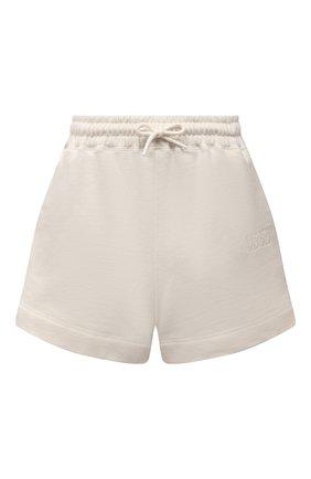 Женские хлопковые шорты GANNI бежевого цвета, арт. T2924 | Фото 1