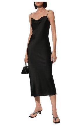 Женское шелковое платье DOROTHEE SCHUMACHER черного цвета, арт. 049503/SENSE 0F SHINE | Фото 2