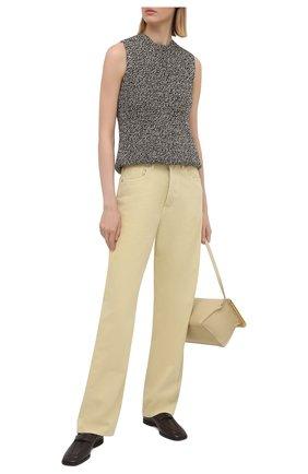 Женские джинсы DRIES VAN NOTEN светло-бежевого цвета, арт. 211-12413-2378   Фото 2