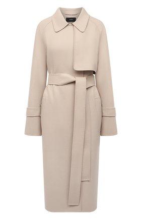 Женское пальто из шерсти и кашемира JOSEPH бежевого цвета, арт. JF005236 | Фото 1