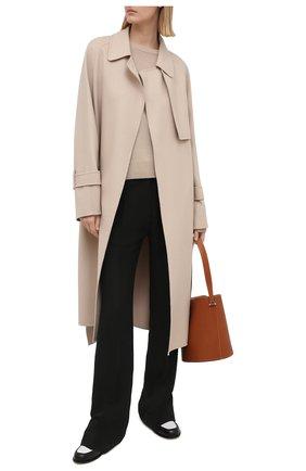 Женское пальто из шерсти и кашемира JOSEPH бежевого цвета, арт. JF005236 | Фото 2