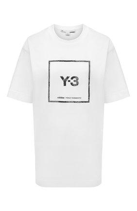 Женская хлопковая футболка Y-3 белого цвета, арт. GV6061/W | Фото 1